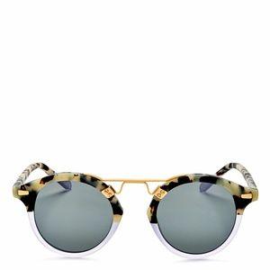 Krewe St. Louis 24K Gradient Round Sunglasses